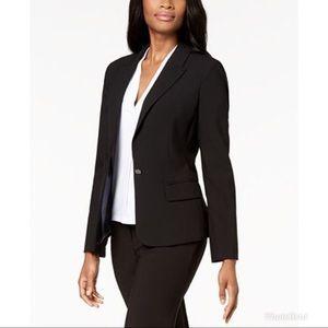 Calvin Klein One Button Black Suiting Blazer